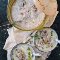 Pork Bone Congee, by thewoksoflife.com