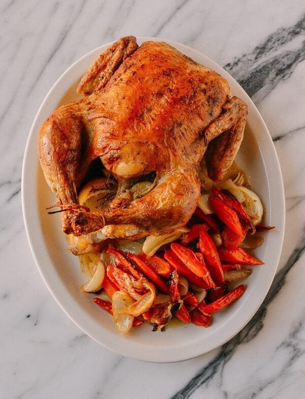 A 2-Part Recipe: Roast Chicken & Stock, by thewoksoflife.com