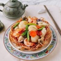 Chinese Seafood Bird Nest, A Chinese Banquet Dish