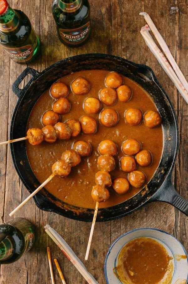 Hong Kong Curry Fish Balls Street Food Recipe The Woks