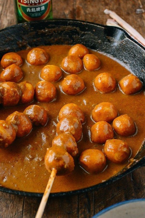 Hong Kong Curry Fish Balls, by thewoksoflife.com
