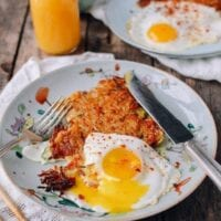 "Crispy ""Sichuan"" Potato Cakes and Eggs"