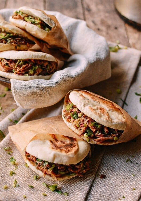 Chinese Hamburger, Rou Jia Mo 肉夹馍, by thewoksoflife.com