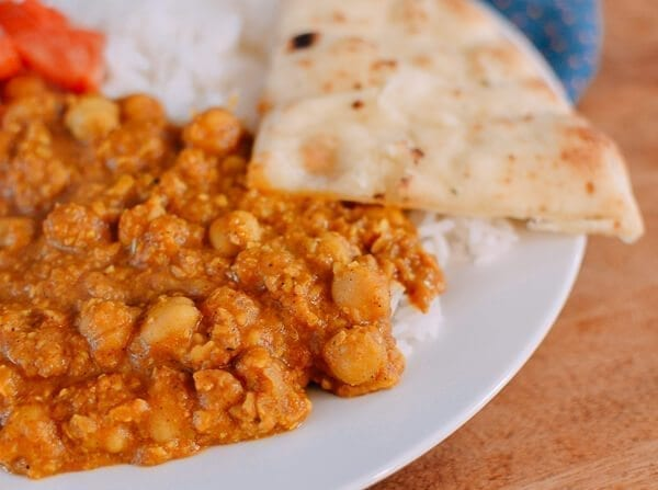 Cashew Chickpea Curry, by thewoksoflife.com