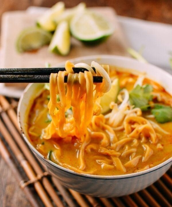 Curry Mee Malaysian Noodle Soup, by thewoksoflife.com