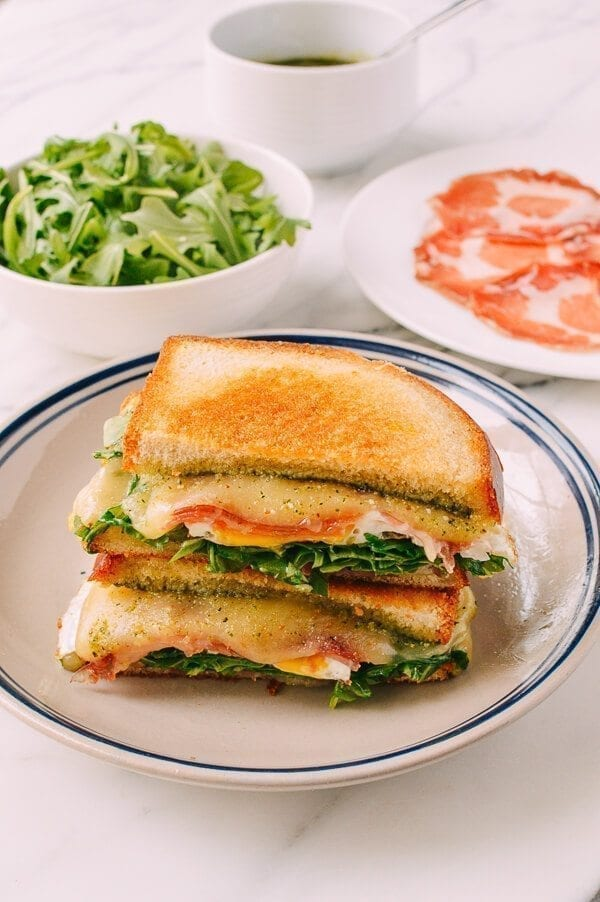 Green Eggs & Ham Grilled Cheese, by thewoksoflife.com