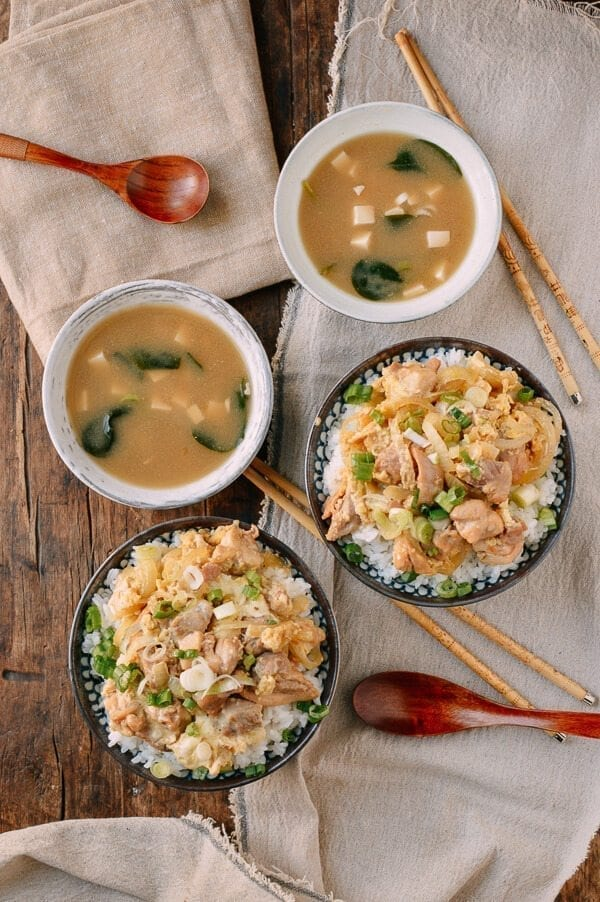 Oyakodon Japanese Chicken Egg Rice Bowls The Woks Of Life