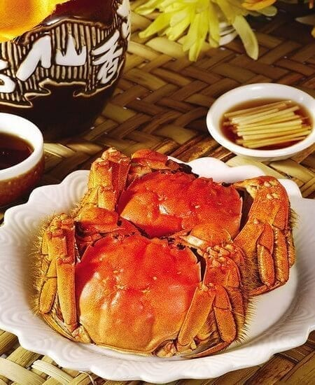 Good Eats in Shanghai: A Culinary Tour of Shanghai Cuisine - steamed hairy crab, by thewoksoflife.com