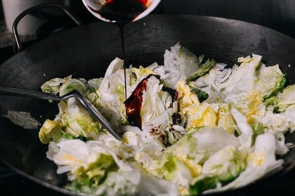 Stir Fried Lettuce, by thewoksoflife.com