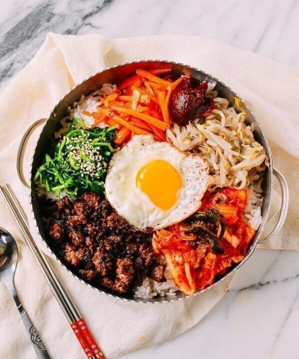 Easy Korean Beef Bibimbap Recipe, by thewoksoflife.com