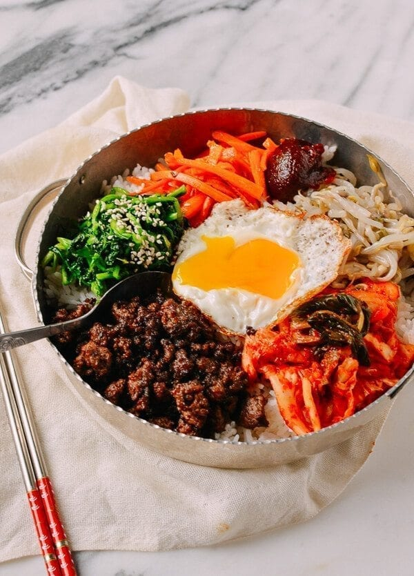 Easy Beef Korean Bibimbap, by thewoksoflife.com