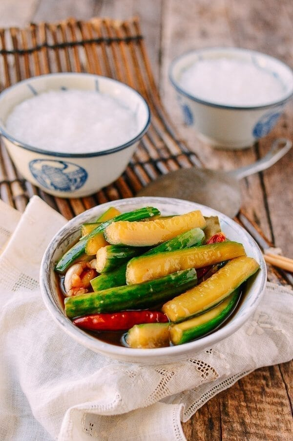Chinese Vegan Recipes - Chinese Pickled Cucumbers, by thewoksoflife.com