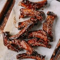 Honey Glazed Ribs (蜜汁排骨) – Oven Baked