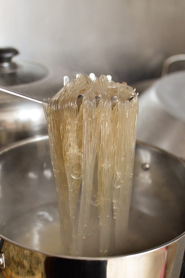 Japchae (Korean Glass Noodles), by thewoksoflife.com
