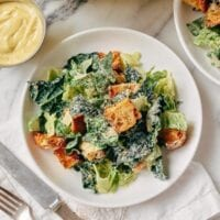 Caesar Salad with Tuscan Kale