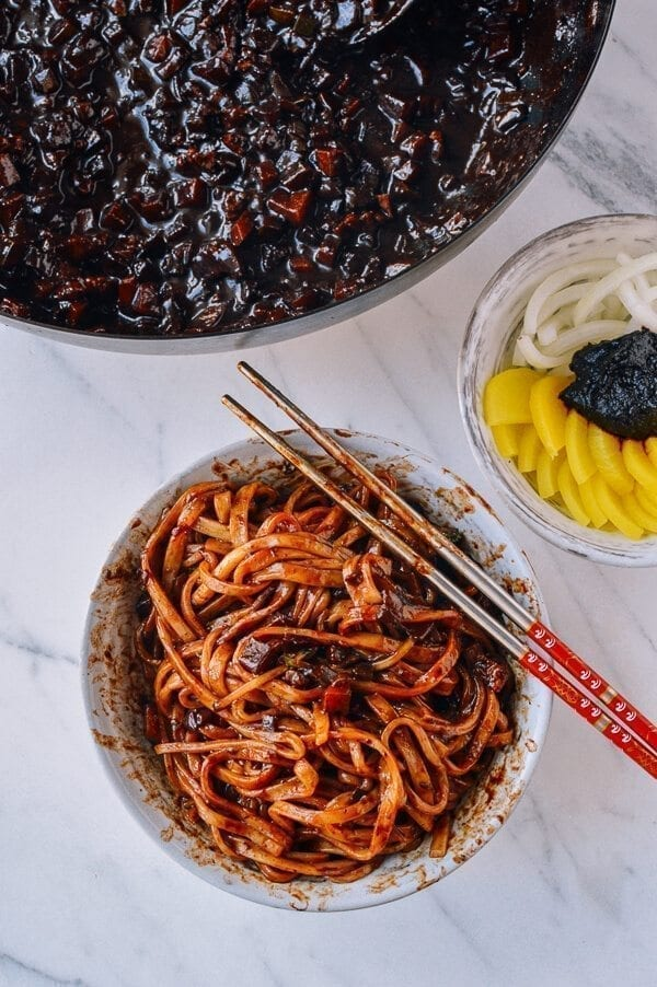 Korean Black Bean Noodles (Jajangmyeon)