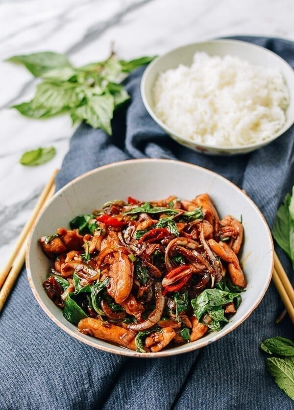 Thai Chicken Stir-fry with Basil & Mint