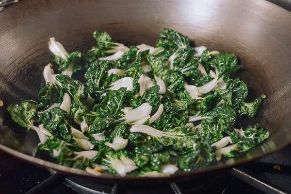 Stir Fried Bok Choy with Tofu Skin, by thewoksoflife.com