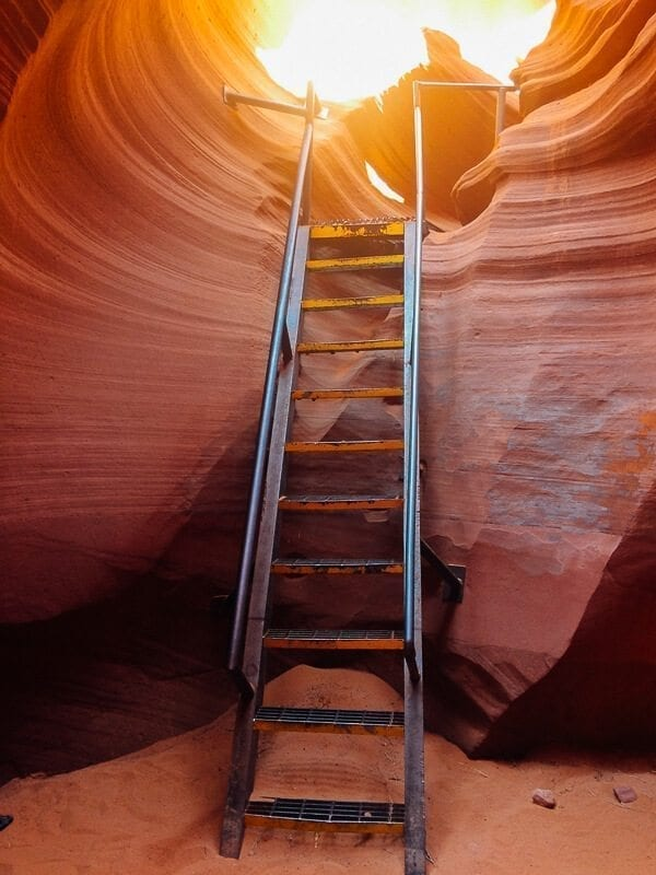 Antelope Canyon Ladders, by thewoksoflife.com