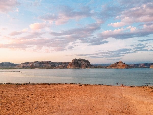 Lake Powell Beach, by thewoksoflife.com