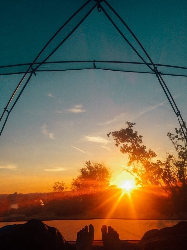 Desert Tent Sunrise, by thewoksoflife.com