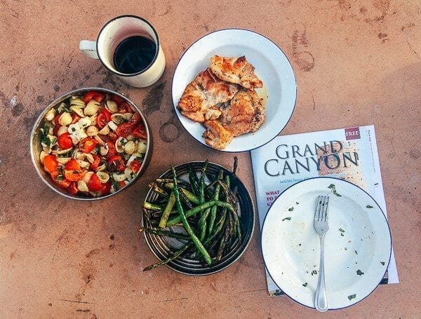 Camping Dinner Grand Canyon, by thewoksoflife.com