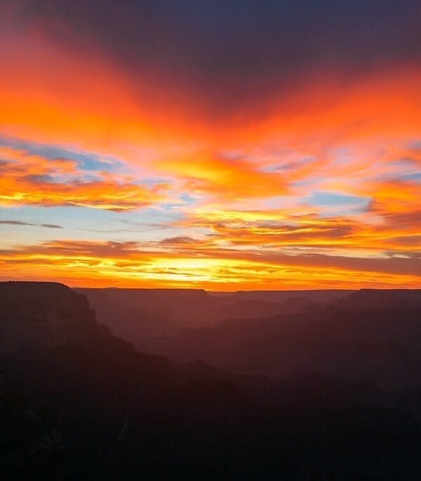 Grand Canyon Sunset, by thewoksoflife.com
