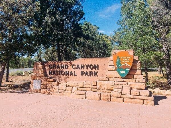 Grand Canyon National Park Sign, by thewoksoflife.com