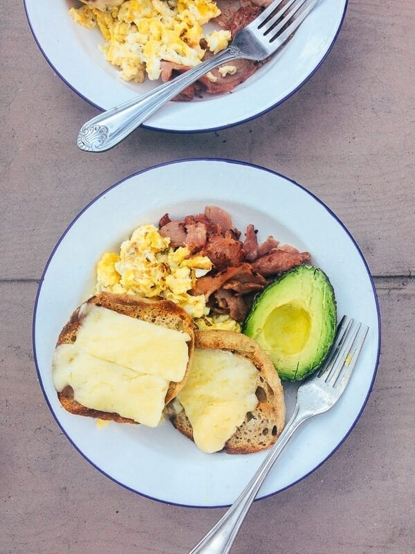 Camping Breakfast, by thewoksoflife.com