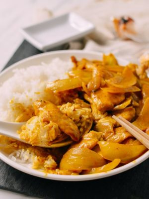 15-Minute Chicken Curry, Takeout-Style, by thewoksoflife.com