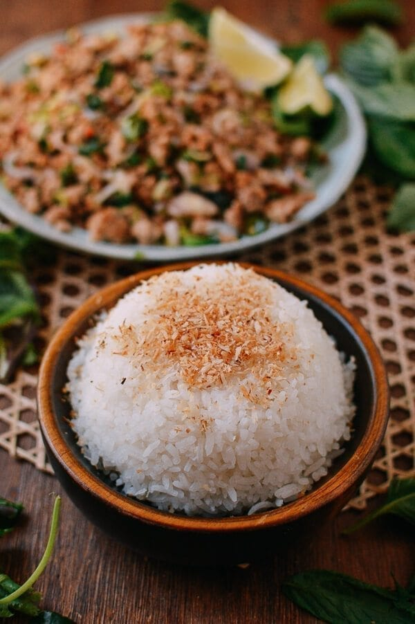 Coconut Rice, by thewoksoflife.com