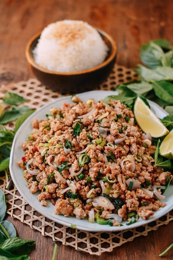 Pork Larb, The National Dish of Laos, by thewoksoflife.com
