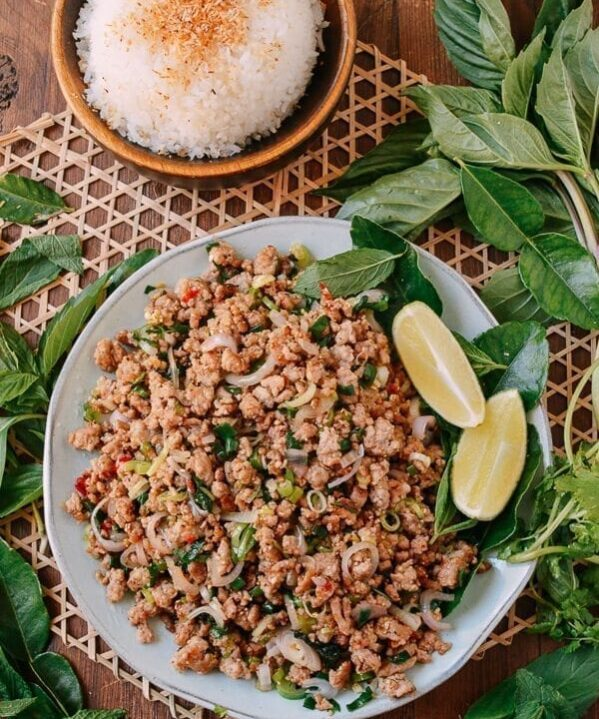Pork Larb, The National Dish of Laos, by thewoksoflife.com