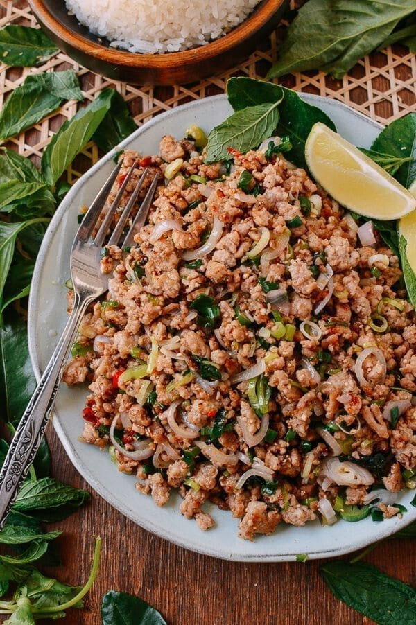 Pork Larb, by thewoksoflife.com