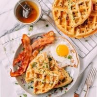Sesame Scallion Waffles