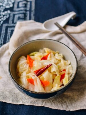 Asian Pickled Cabbage, by thewoksoflife.com
