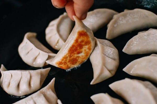 Chicken Zucchini Dumplings, by thewoksoflife.com