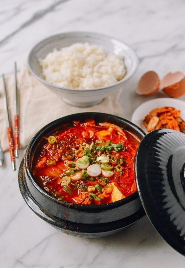 Soondubu Jigae (Korean Soft Tofu Stew), by thewoksoflife.com