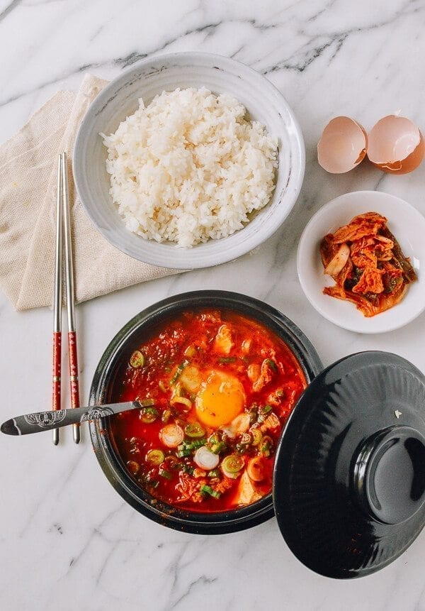 Soondubu Jigae (Korean Soft Tofu Stew), by thewoksoflife.com