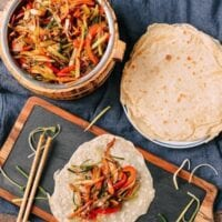 Vegetable Moo Shu with Mandarin Pancakes