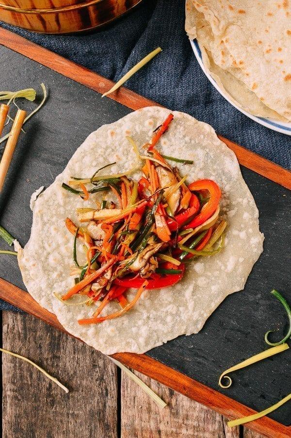Vegetable Moo Shu, by thewoksoflife.com