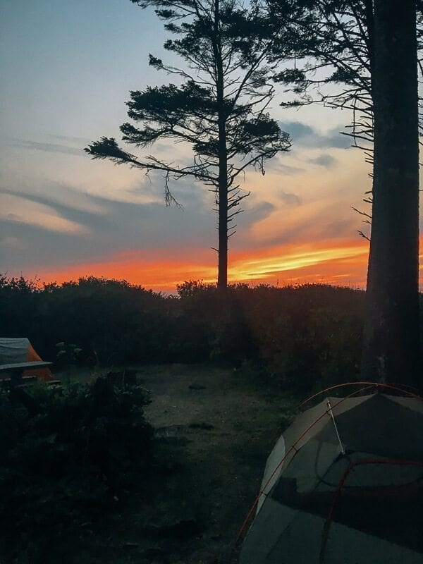 Kalaloch Campground Sunset, by thewoksoflife.com
