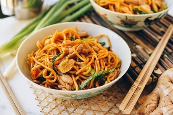 Ginger Scallion Hokkien Noodles, by thewoksoflife.com