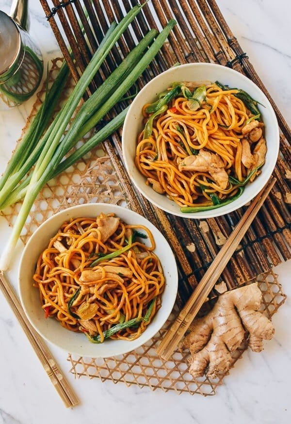 Best Lo Mein Recipe - Ginger Scallion Hokkien Noodles, by thewoksoflife.com