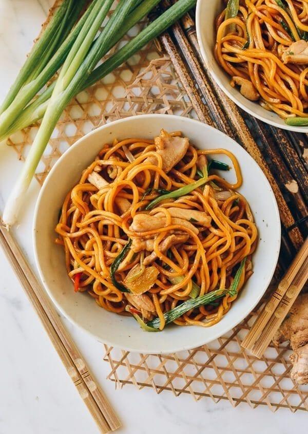 Ginger Scallion Hokkien Noodles, by thewoksoflife.com