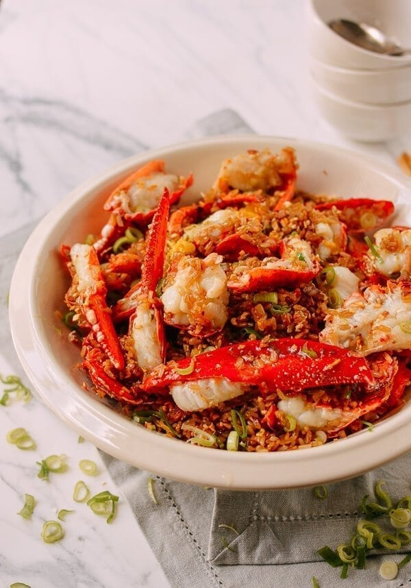 Lobster Sticky Fried Rice, by thewoksoflife.com