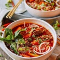 Bo Kho: Spicy Vietnamese Beef Stew with Noodles, by thewoksoflife.com