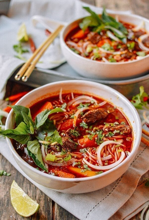 Bo Kho: Spicy Vietnamese Beef Stew with Noodles - The Woks ...