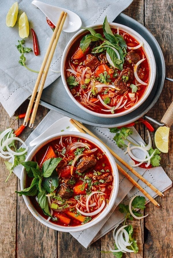 Bo Kho: Spicy Vietnamese Beef Stew with Noodles