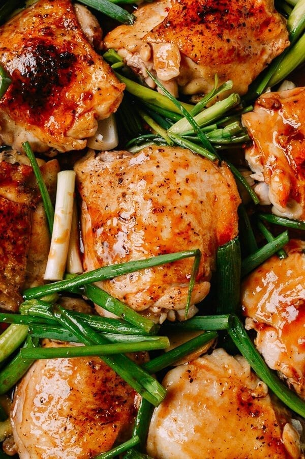 One-Pan Roasted Chicken in Oyster Sauce, by thewoksoflife.com